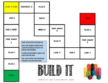 BUILD It: Addition & Subtraction Game