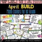 BUILD April Math Centers for First Grade