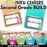 BUILD April Math Centers for Second Grade