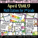 BUILD April Math Centers for Second Grade