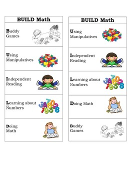 Differentiated Math Center Boomarks
