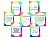 Math Center Expectations Signs (Rainbow Theme)