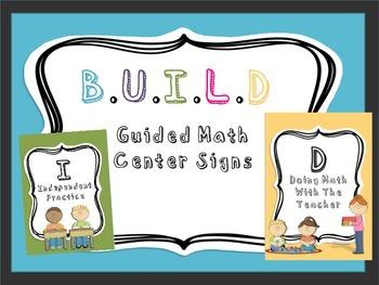 B.U.I.L.D Guided Math Signs