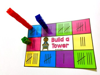 BUILD IT UP Counting Board Games for Kindergarten