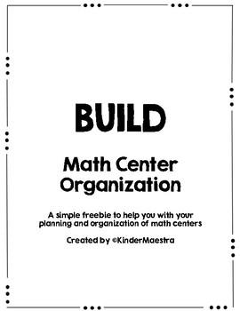 BUILD Math Center Organization