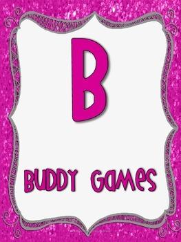 B.U.I.L.D Math Center Signs Bundle- Pink and Grey Theme