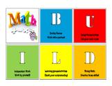 BUILD Math Centers Clip Chart