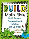 Frog Pond B.U.I.L.D. Math Centers Organization & Rotation Set-Up Pack