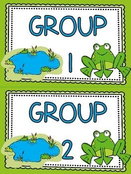 Frog Pond B.U.I.L.D. Math Centers Organization & Rotation Set-Up Pack