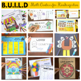 BUILD Math Centers for Kindergarten for the WHOLE YEAR -Bundle