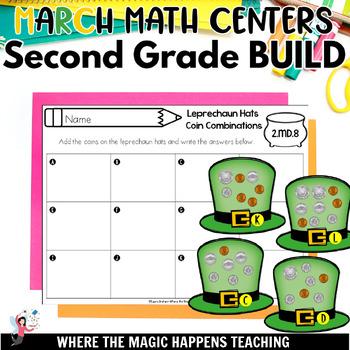 BUILD March  Math Centers for Second Grade Common Core