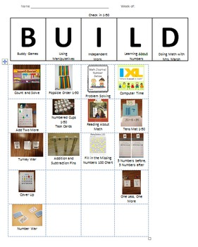 BUILD Math Check In Sheets