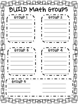 BUILD Math Groups