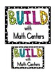B.U.I.L.D. Math Rotation/Center Cards or Posters