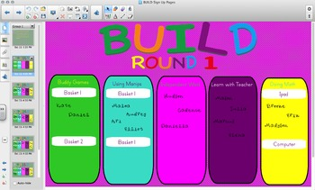 BUILD (daily 5) Math Smartboard Sign Up
