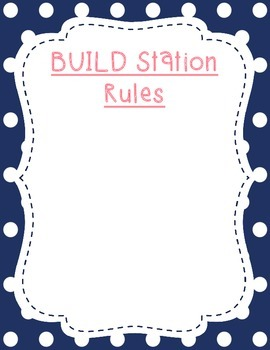 BUILD Math Station Posters