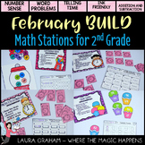 BUILD  February Math Centers for Second Grade