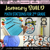 BUILD  January Math Centers for Second Grade