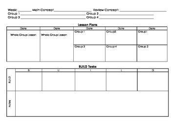 BUILD Mathematics Planning Template