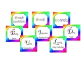 Math Center Signs (Rainbow Theme)