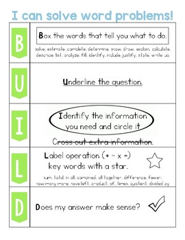 BUILD Word Problems Poster
