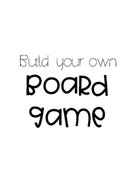 BUILD YOUR OWN BOARD GAME PACK