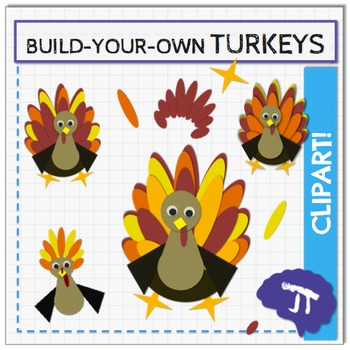 BUILD YOUR OWN Turkey Clipart