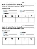 BUILD checklist