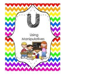 B.U.I.L.D math posters rainbow chevron theme