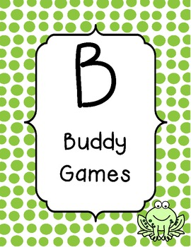 BUILD math station signs frog theme