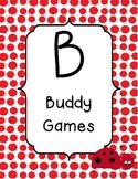BUILD math station signs ladybug theme