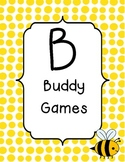 BUILD math station signs with bee theme
