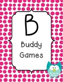 BUILD math station signs with owl theme