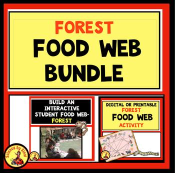 BUILDING A FOOD WEB! 2 Interactive Activities BUNDLE LS2-3, 5-LS2-1