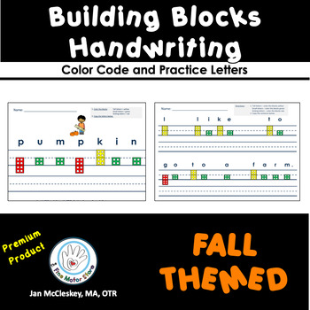 BUILDING BLOCKS WRITING: Fall Themed Words and Sentences