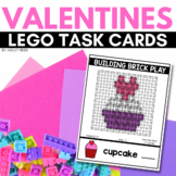 BUILDING BRICK LEGO VALENTINES Task Cards for FEBRUARY