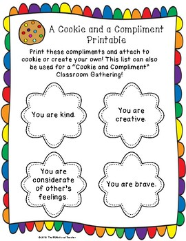 """BUILDING CLASSROOM CULTURE - """"A Cookie and a Compliment"""""""