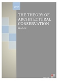 THE THEORY OF ARCHITECTURAL CONSERVATION (Intermediate level)