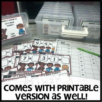 BUILDING FLUENCY DIGITAL TASK CARDS | PRINTABLE TASK CARDS