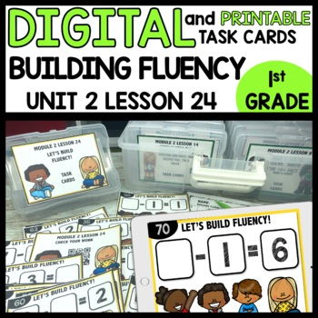 BUILDING FLUENCY (subtraction)  DIGITAL TASK CARDS | PRINTABLE TASK CARDS