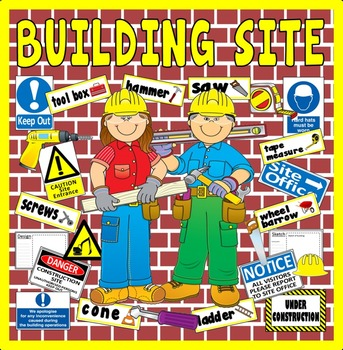 BUILDING SITE CONSTRUCTION ROLE PLAY TEACHING RESOURCES EYFS KS1