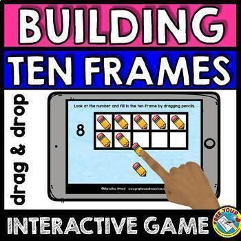 BOOM CARDS NUMBERS 1-10 (BUILDING TEN FRAMES INTERACTIVE GAMES GROWING BUNDLE)