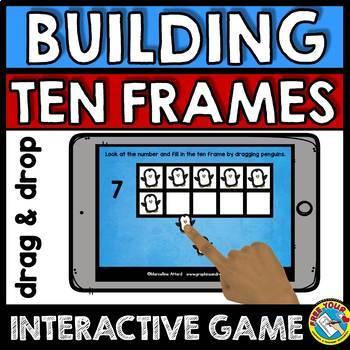 BOOM CARDS BUNDLE NUMBERS 1-10 (BUILDING TEN FRAMES ACTIVITIES)