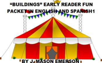 BUILDINGS EARLY READER FUN PACKET IN ENGLISH AND SPANISH