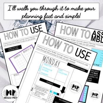 Bullet Journal Lesson Planner - AS SEEN ON PINTEREST & INSTAGRAM