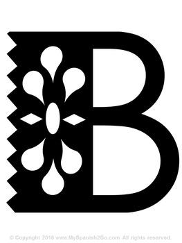 BULLETIN BOARD, BANNER, OR CLIP ART:  PAPEL PICADO ENTIRE ALPHABET!