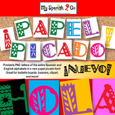 PAPEL PICADO ENTIRE ALPHABET! Great for Bulletin Board