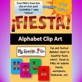 BULLETIN BOARD, BANNER OR CLIP ART free trial:  ESPANOL AND HOLA