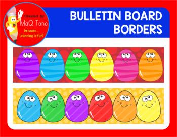 BULLETIN BOARD EASTER EGGS BORDERS