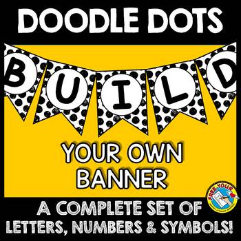 BLACK AND WHITE BULLETIN BOARD LETTERS (BLACK AND WHITE CLASSROOM DECOR BANNERS)